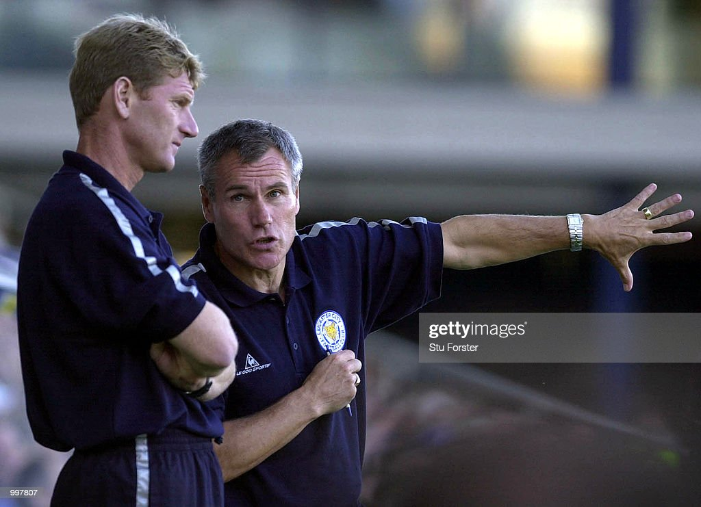 A nervous looking Leicester City manager Peter Taylor during the FA Barclaycard Premiership game between Leicester City and Ipswich Town at Filbert Street, Leicester. DIGITAL IMAGE. Mandatory Credit: Stu Forster/ALLSPORT