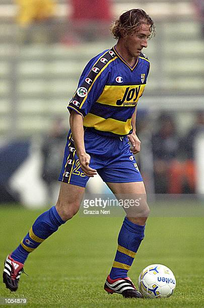 Aimo Diana of Parma in action during the Serie A 4th Round League match between Parma and Brescia played at the Ennio Tardini stadium Parma DIGITAL...