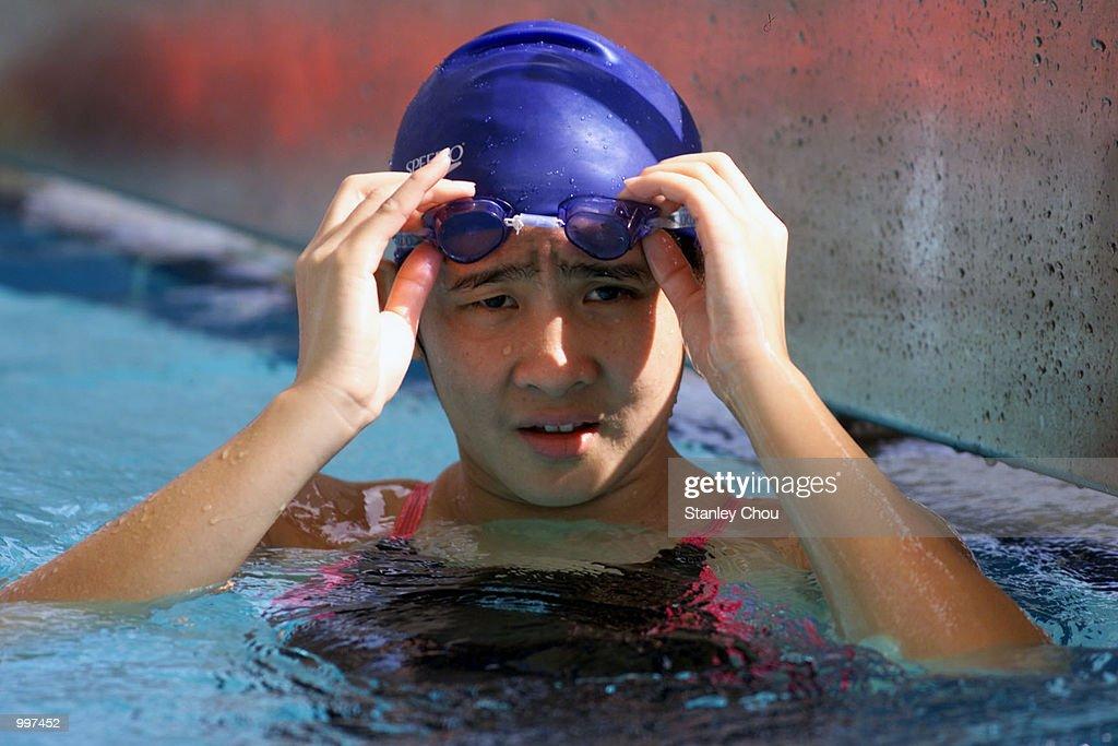 Atie Juliani of Indonesiatrains for the 21st South East Asian Games at the Bukit Jalil Aquatic Center, Kuala Lumpur, Malaysia. DIGITAL IMAGE Mandatory Credit: Stanley Chou/ALLSPORT