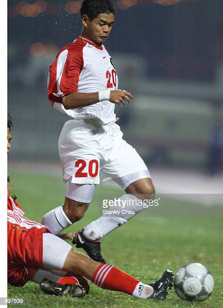 Bambang Pamungkas of Indonesia in action in a Group B match between Indonesia and Vietnam held at the MPPJ Stadium Petaling Jaya Malaysia during the...
