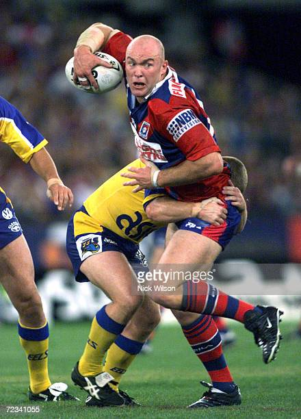 Ben Kennedy of Newcastle in action during the NRL Grand Final between the Parramatta Eels and the Newcastle Knights held at Stadium Australia Sydney...
