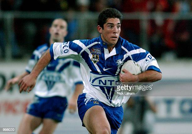 Braith Anasta of the Bulldogs in action during the NRL qualifying final between the Bulldogs and the St George Illawarra Dragons held at the Sydney...