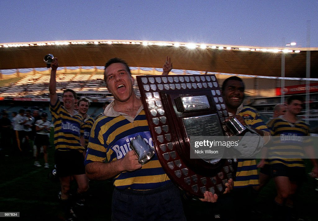 Bredan Cannon of Sydney University walks the lap of the Ground after University defeated Eastwood 27-20 to win the Sydney Club Rugby Premiership at the Sydney Football Stadium,Sydney,Australia. Digital Image Mandatory Credit: Nick Wilson/ALLSPORT