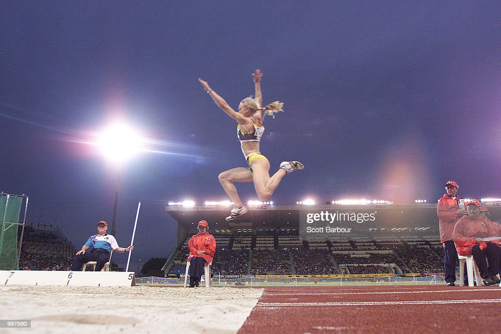 Bronwyn Thompson of Australia in action during the Womens Long Jump during the athletics at the ANZ Stadium during the Goodwill Games in Brisbane, Australia. DIGITAL IMAGE Mandatory Credit: Scott Barbour/ALLSPORT