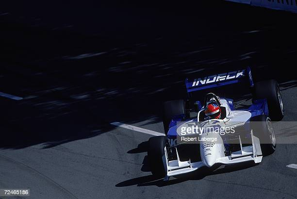 Bryan Herta of the United States who drives the Ford Reynard for Zakspeed Forsythe Racing driving on the track during the Molson Indy part of the...