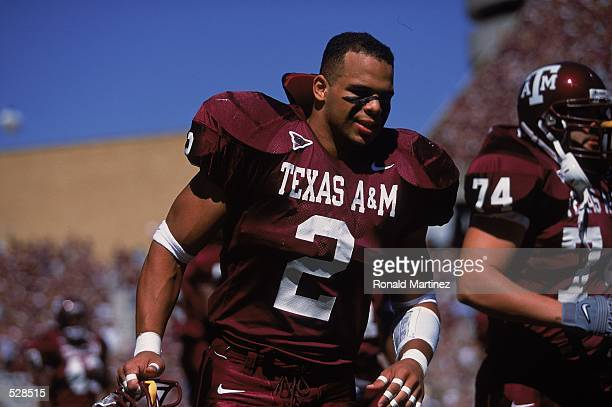 Christian Rodriguez of the Texas AM Aggies walks off field during the game against the Notre Dame Fighting Irish at Kyle Field in College Station...