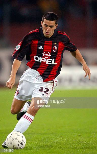 Cosmin Contra of AC Milan in action during the Serie A 3rd Round League match between Udinese and AC Milan played at the Friuli Stadium Udine DIGITAL...