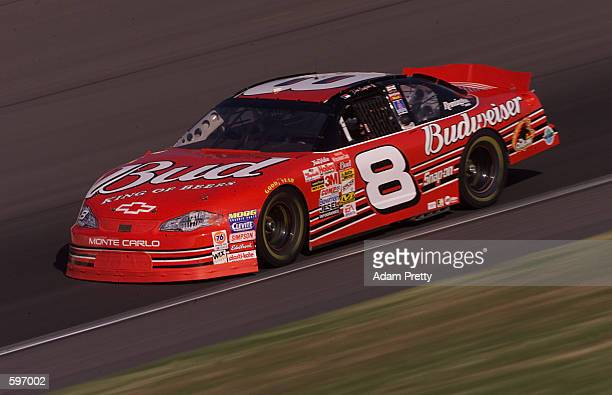 Dale Earnhardt Jr in action during practice for the NASCAR Winston Cup Series Protection One 400 at Kansas Speedway Kansas City Kansas DIGITAL IMAGE...