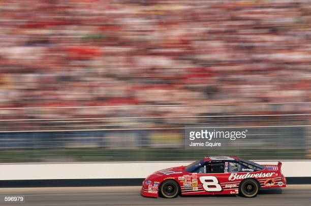 Dale Earnhardt Jr who drives the Chevy Monte Carlo for Richard Childress Racing Races by during the MBNA Cal Ripken Jr 400 part of the NASCAR Winston...