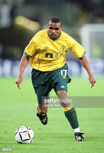 Didier Agathe of Celtic runs with the ball during the UEFA Champions League Group E match against Juventus played at the Stadio Delle Alpi in Turin...