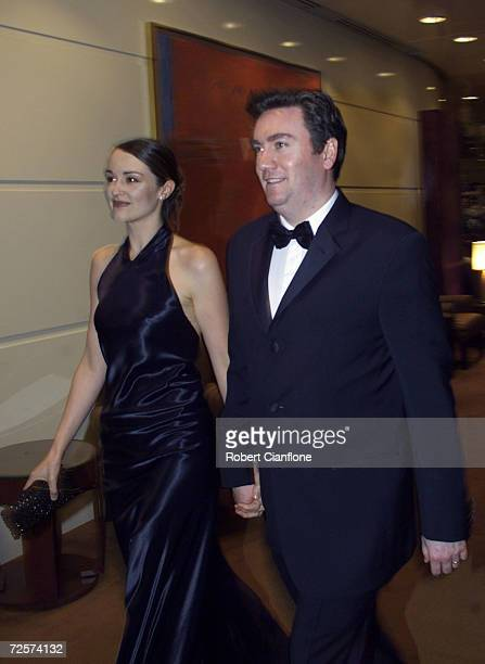 Eddie McGuire arrives with his wife Carla at the 2001 AFL Brownlow Medal Presentation held at Crown Casino in Melbourne Australia Mandatory Credit...