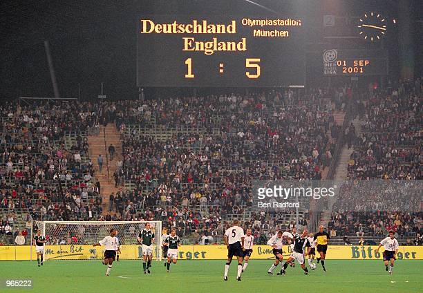England are well on their way to victory in the FIFA 2002 World Cup Qualifier between Germany and England played at the Olympic Stadium in Munich...