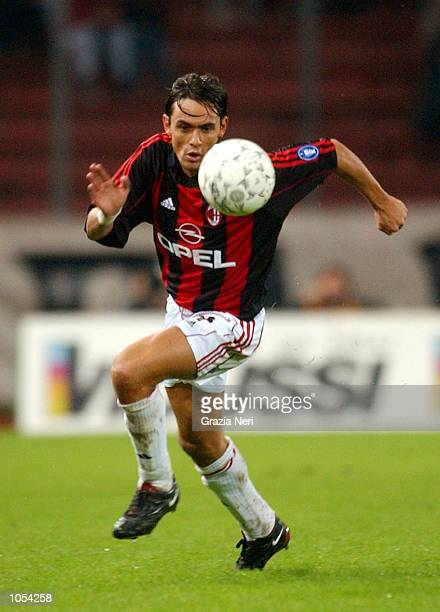 Filippo Inzaghi of AC Milan in action during the Serie A 3rd Round League match between Udinese and AC Milan played at the Friuli Stadium Udine...