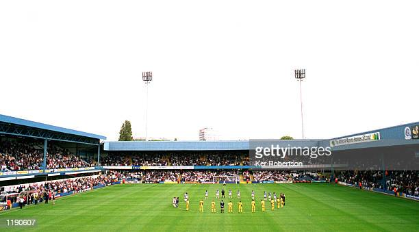 General view as the two teams observe a minutes silence before the Nationwide Division Two match between Queens Park Rangers and Port Vale played at...