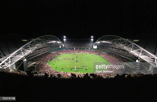 General view of Stadium Australia during the NRL Grand Final played between the Parramatta Eels and the Newcastle Knights held at Stadium Australia...