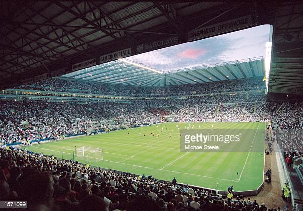 General view of the action from the FIFA 2002 World Cup Qualifying match between England and Albania played at St. James Park in Newcastle, England....