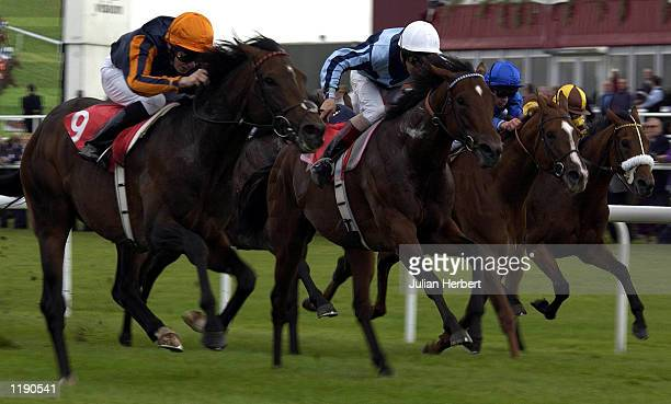 Jamie Spencer and Lagudin come through to land The Joy UK Conditiond Guaranteed Sweepstakes run at Doncaster DIGITAL IMAGE Mandatory Credit Julian...