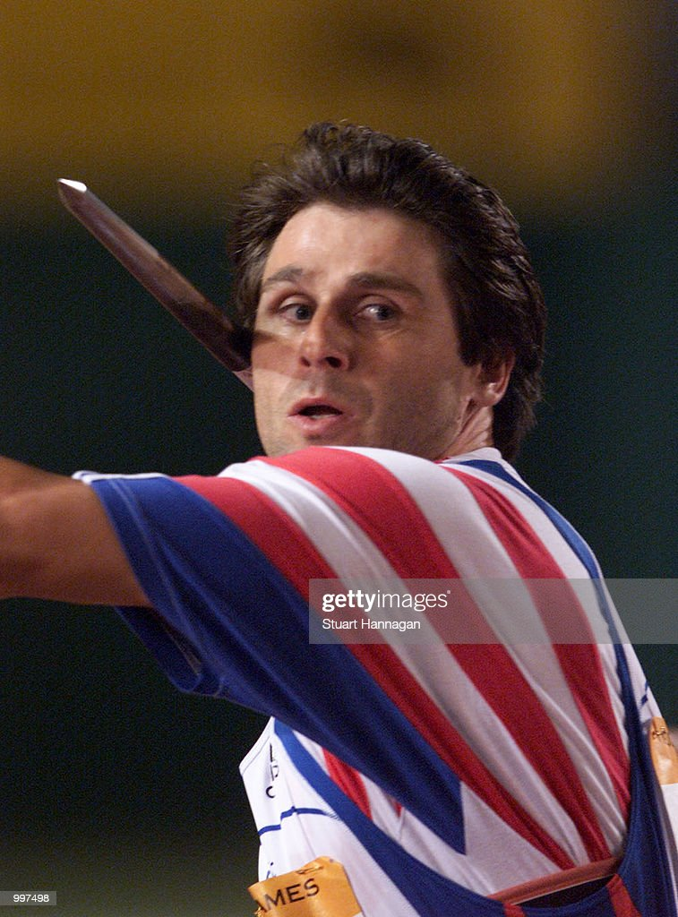 Jan Zelezny of the Czech Republic in action during the Mens Javelin during the athletics at the ANZ Stadium during the Goodwill Games in Brisbane, Australia. DIGITAL IMAGE Mandatory Credit: Stuart Hannagan/ALLSPORT