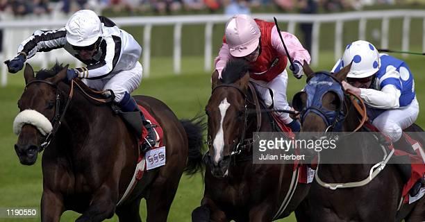 Joe Fanning and Darasim come home to land The Tote Exacta Mallard Stakes run at Doncaster DIGITAL IMAGE Mandatory Credit Julian Herbert/ALLSPORT