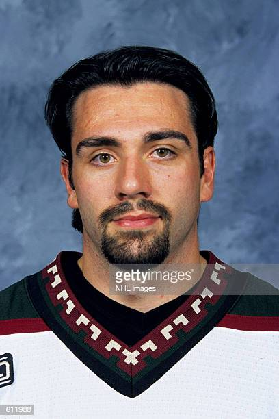 Joel Bouchard of the Phoenix Coyotes poses for a portrait in Phoenix Arizona DIGITAL IMAGE Mandatory Credit Getty Images/NHLI