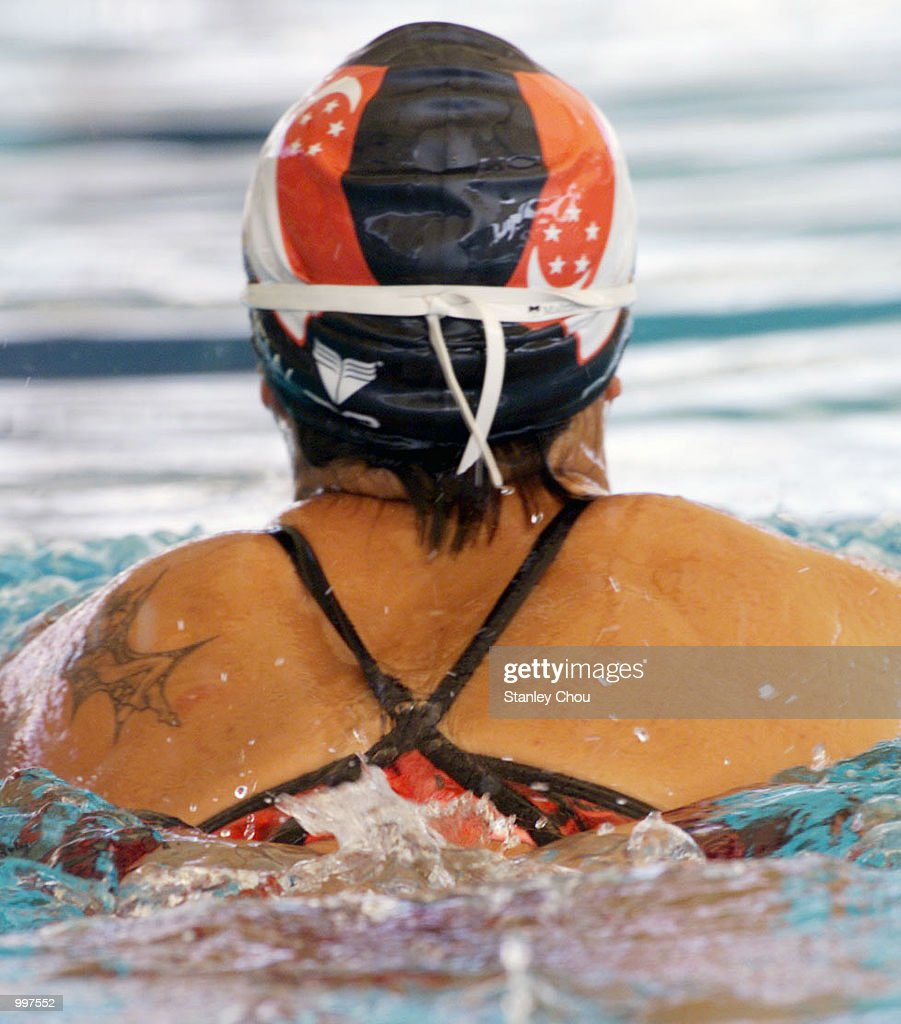 Joscelin Yeo of Singapore in action during a training session held at the Bukit Jalil Aquatics Centre, Kuala Lumpur, Malaysia ahead of the 21st South East Asian Games which will begin from 8 September to 17 September 2001. DIGITAL IMAGE. Mandatory Credit: Stanley Chou/ALLSPORT
