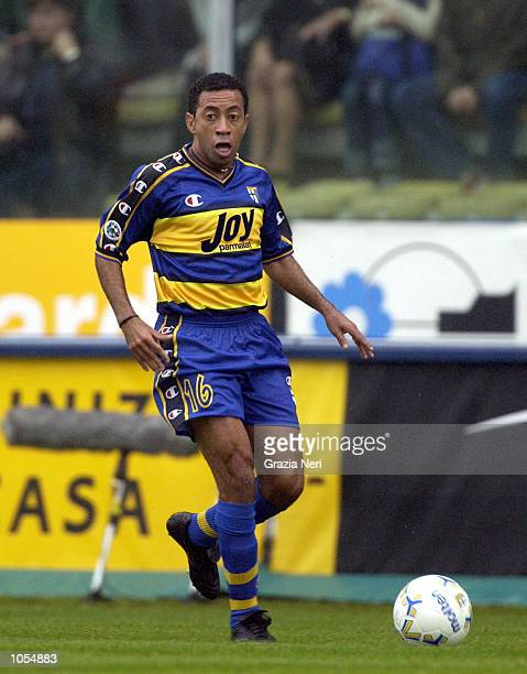 Junior of Parma in action during the Serie A 4th Round League match between Parma and Brescia played at the Ennio Tardini stadium Parma DIGITAL IMAGE...