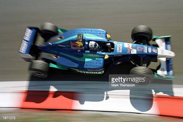 Kimi Raikkonen of Finland and Sauber during the third free practice session for the Italian Grand Prix at Monza Italy Mandatory Credit Mark...