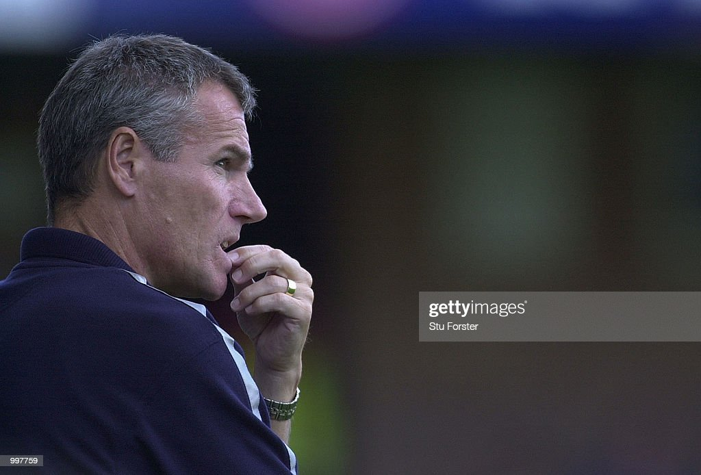 Leicester City manager Peter Taylor in thoughtful mood during the FA Barclaycard Premiership game between Leicester City and Ipswich Town at Filbert Street, Leicester. DIGITAL IMAGE. Mandatory Credit: Stu Forster/ALLSPORT