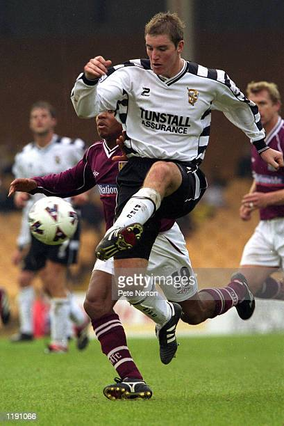 Liam Burns of Port Vale in action during the Nationwide League Division Two match played between Port Vale and Northampton Town at Vale Park in Stoke...