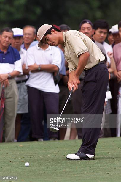 Liang Wenchong of China in action at the 10th Hole of the Royal Selangor Golf and Country Club Kuala Lumpur Malaysia during the final round of the...
