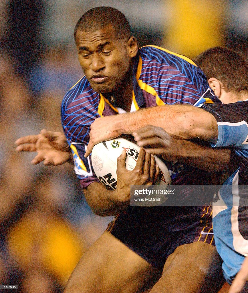 Lote Tuqiri #2 of the Broncos in action during the NRL First Qualifying Final between the Cronulla Sharks and the Brisbane Broncos held at Toyota Park, Sydney, Australia. DIGITAL IMAGE Mandatory Credit: Chris McGrath/ALLSPORT