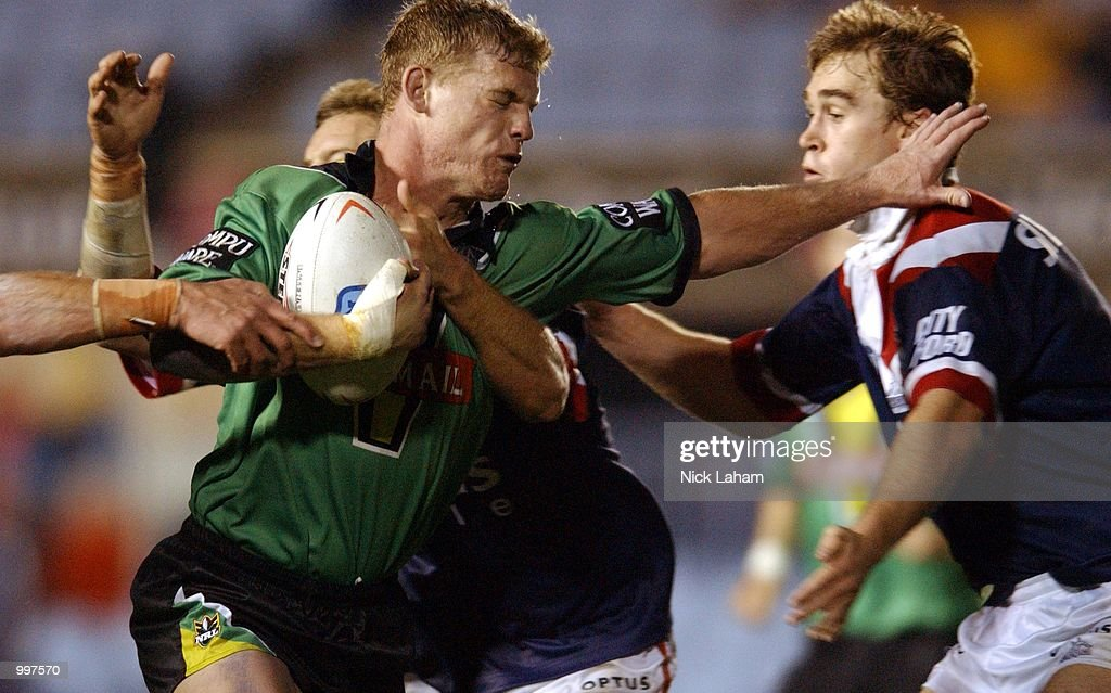 Luke Williamson #6 of the Raiders in action during the NRL first division NRL qualifying final between the Canberra Raiders and the Sydney Roosters held at Toyota Park, Sydney, Australia. DIGITAL IMAGE Mandatory Credit: Nick Laham/ALLSPORT