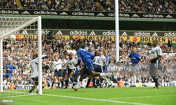 Marcel Desailly of Chelsea scores the 3rd goal during the FA Barclaycard Premiership match between Tottenham Hotspur and Chelsea at White Hart Lane...