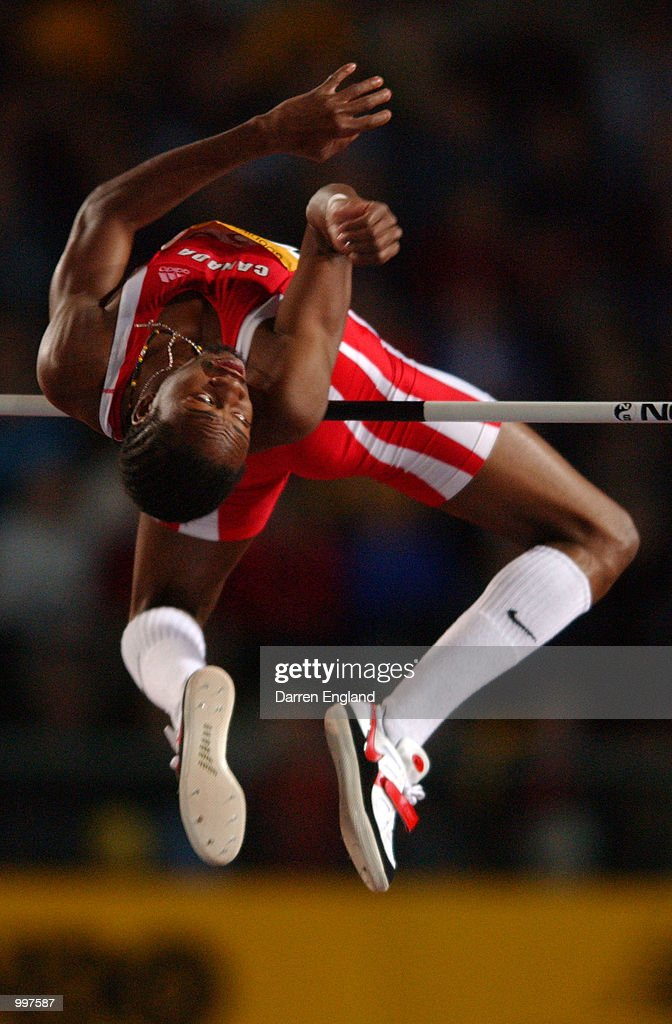 Mark Boswell of Canada in action during the Mens High Jump during the athletics at the ANZ Stadium during the Goodwill Games in Brisbane, Australia. DIGITAL IMAGE Mandatory Credit: Darren England/ALLSPORT