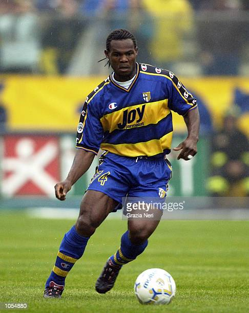 Martin Djetou of Parma in action during the Serie A 4th Round League match between Parma and Brescia played at the Ennio Tardini stadium Parma...