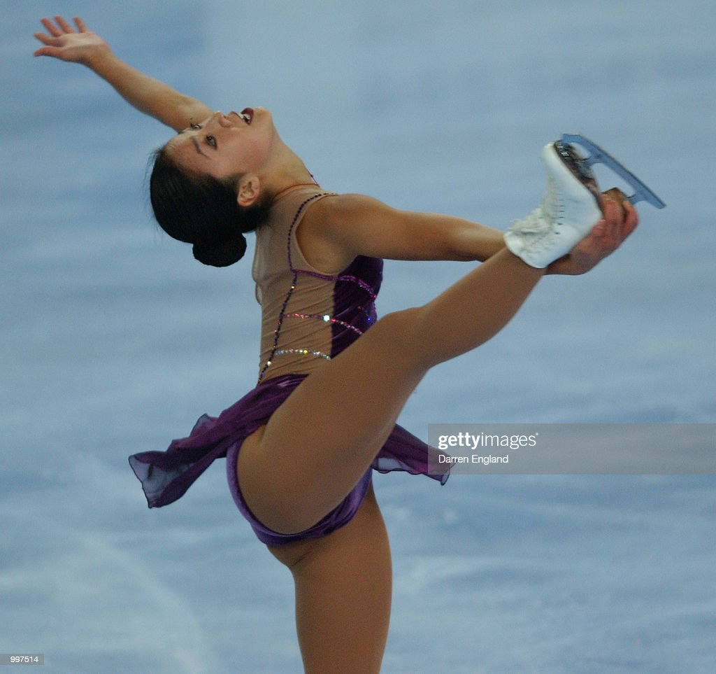 Michelle Kwan of the United States in action at the Figure Skating competition during the Ladies Short Program held at the Brisbane Entertainment Centre during the Goodwill Games in Brisbane, Australia. DIGITAL IMAGE. Mandatory Credit: Darren England/ALLSPORT