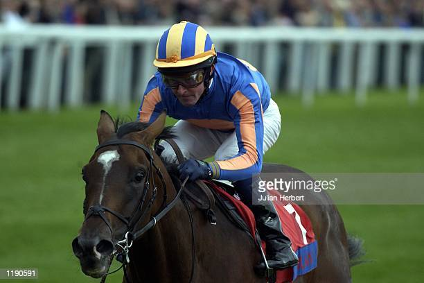 Mick Kinane and Milan come home to land The St Leger Stakes run at Doncaster DIGITAL IMAGE Mandatory Credit Julian Herbert/ALLSPORT
