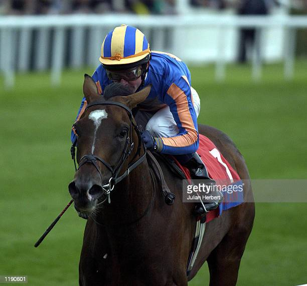 Mick Kinane and Milan come home to land The St Leger Stakes run at Doncaster. DIGITAL IMAGE Mandatory Credit: Julian Herbert/ALLSPORT