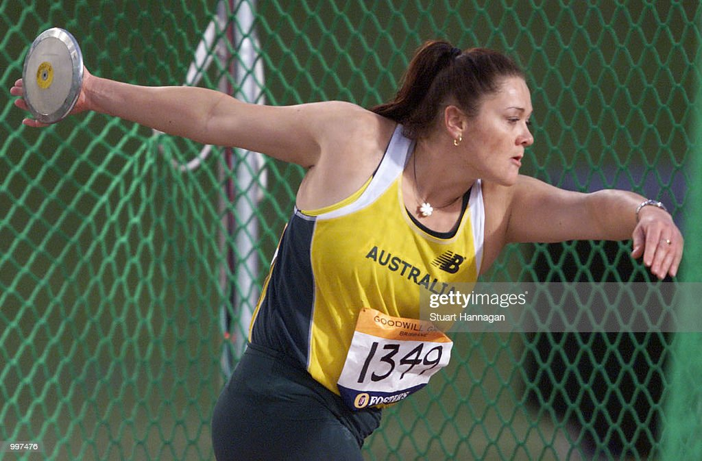 Monique Nacsa of Australia in action during the Womens Discus during the athletics at the ANZ Stadium during the Goodwill Games in Brisbane, Australia. DIGITAL IMAGE Mandatory Credit: Stuart Hannagan/ALLSPORT