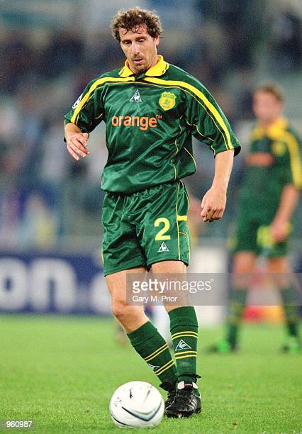 Nestor Fabbri of Nantes on the ball during the UEFA Champions League match between SS Lazio and FC Nantes played at the Stadio Olimpico in Rome Italy...