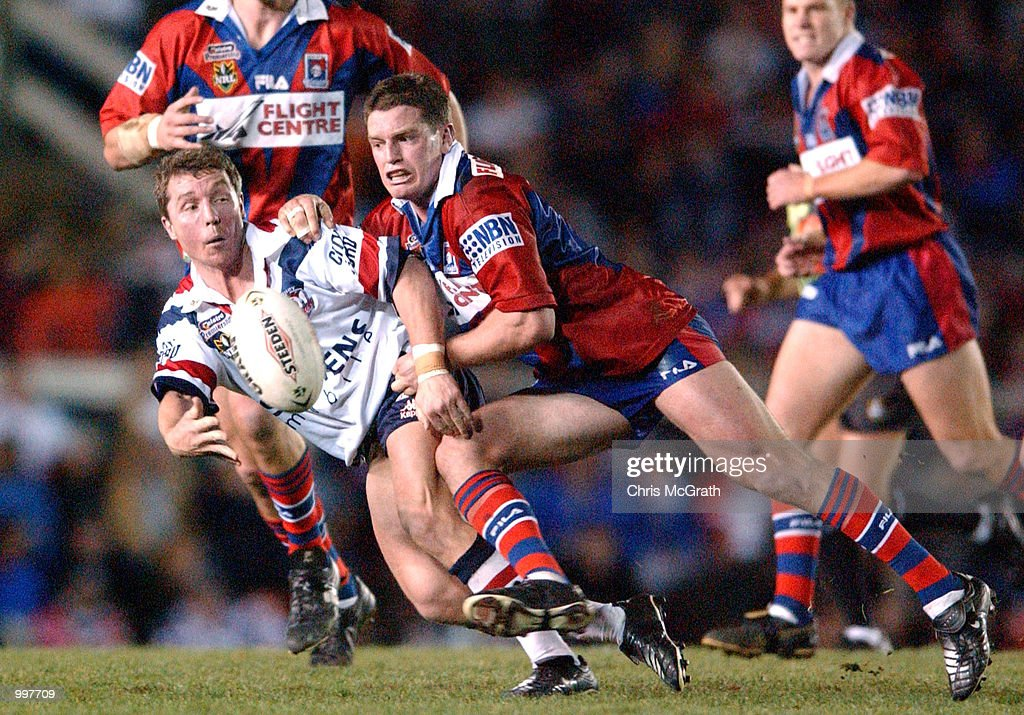 Paul Green #17 of the Roosters in action during the NRL second qualifying final between the Newcastle Knights and the Sydney Roosters held at Marathon Stadium, Newcastle, Australia. The Knights won the match 40-6. DIGITAL IMAGE Mandatory Credit: Chris McGrath/ALLSPORT