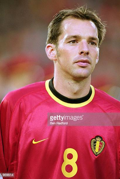 Portrait of Bart Goor of Belgium before the FIFA World Cup 2002 Group Six Qualifying match against Scotland played at the Stade Roi Baudouin in...