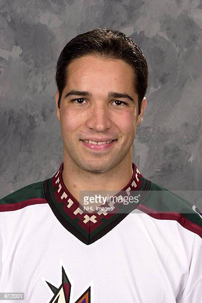Ramzi Abid of the Phoenix Coyotes poses for a portrait in Phoenix Arizona DIGITAL IMAGE Mandatory Credit Getty Images/NHLI