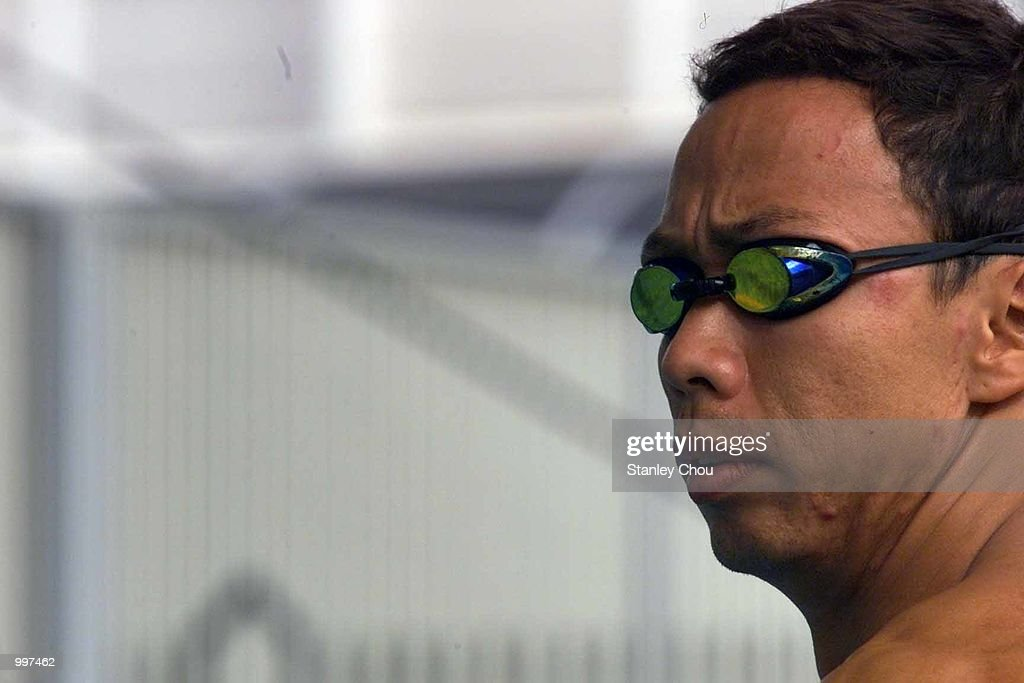 Richard Sambera of Indonesia in action during a training session for the 21st South East Asian Games at the Bukit Jalil Aquatic Center, Kuala Lumpur, Malaysia. DIGITAL IMAGE. Mandatory Credit: Stanley Chou/ALLSPORT
