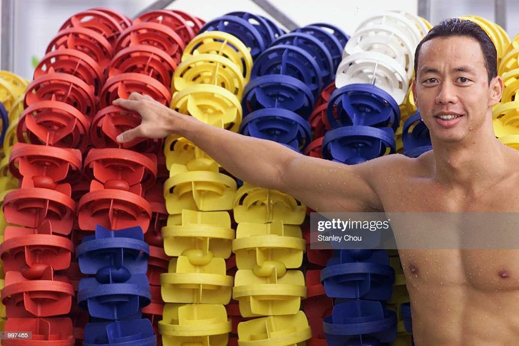 Richard Sambera of Indonesia poses for photographs during a training session for the 21st South East Asian Games at the Bukit Jalil Aquatic Center, Kuala Lumpur, Malaysia. DIGITAL IMAGE Mandatory Credit: Stanley Chou/ALLSPORT