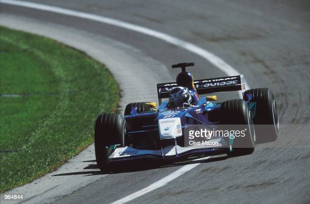 Sauber driver Kimi Raikkonen of Finland in action during the US Formula One Grand Prix held at the Indianapolis Motor Speedway in Indiana Mandatory...