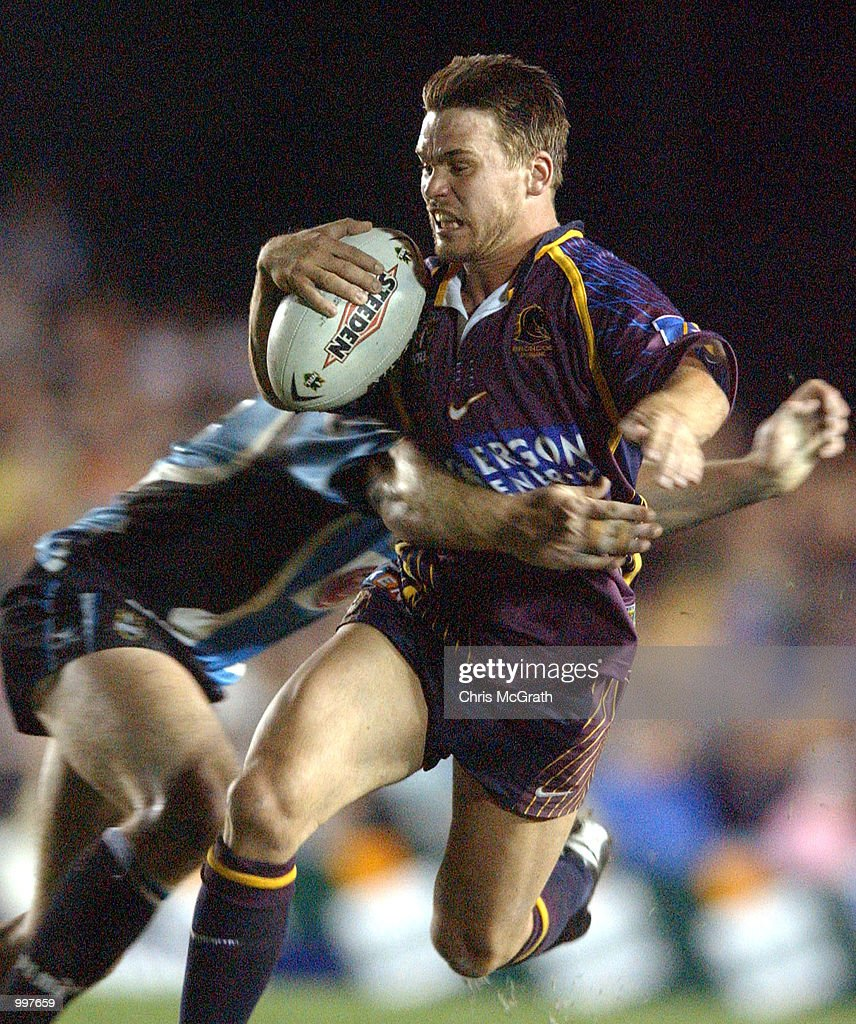 Shaun Berrigan #7 of the Broncos in action during the NRL First Qualifying Final between the Cronulla Sharks and the Brisbane Broncos held at Toyota Park, Sydney, Australia. DIGITAL IMAGE Mandatory Credit: Chris McGrath/ALLSPORT