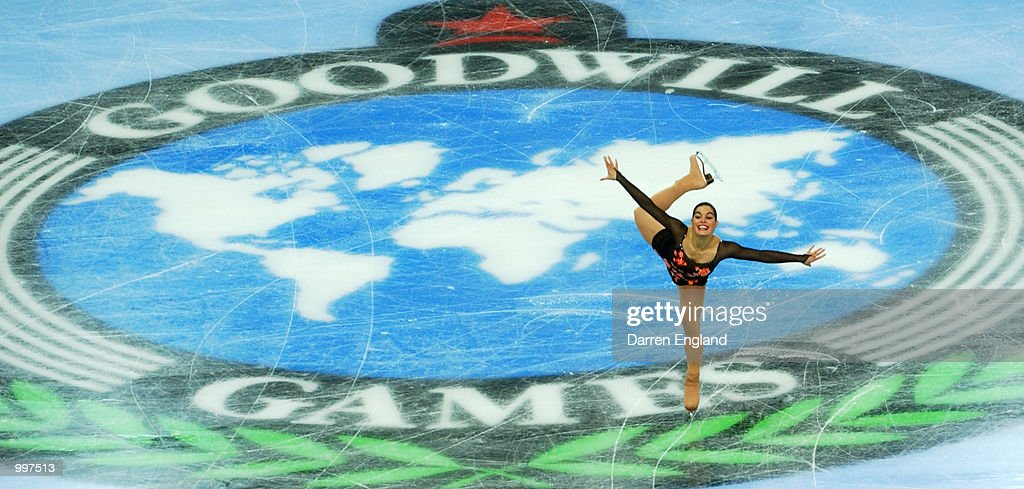 Silvia Fontana of Italy in action at the Figure Skating competition during the Ladies Short Program held at the Brisbane Entertainment Centre during the Goodwill Games in Brisbane, Australia. DIGITAL IMAGE. Mandatory Credit: Darren England/ALLSPORT