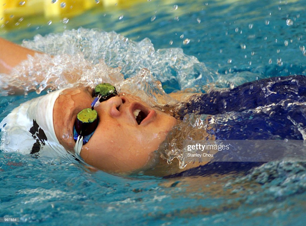 Siow Yi Ting of Malaysia in action during the Women's 200M Individual Medley Heat held at the National Aquatics Centre, Kuala Lumpur, Malaysia during the 21st South East Asian Games. DIGITAL IMAGE. Mandatory Credit: Stanley Chou/ALLSPORT