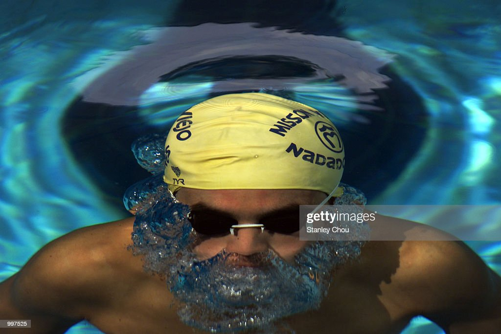 Siripiya Sutanto of Indonesia takes a break during a training session held at the Bukit Jalil Aquatic Center, Kuala Lumpur, Malaysia ahead of the 21st South East Asian Games from 8 September to 17 September 2001. DIGITAL IMAGE. Mandatory Credit: Stanley Chou/ALLSPORT